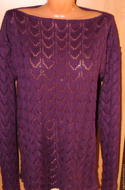 Кофты и свитера ручной работы. Ярмарка Мастеров - ручная работа. Купить Красивый , ажурный летний джемпер.Пряжа SUPERLANA TIG. Handmade.