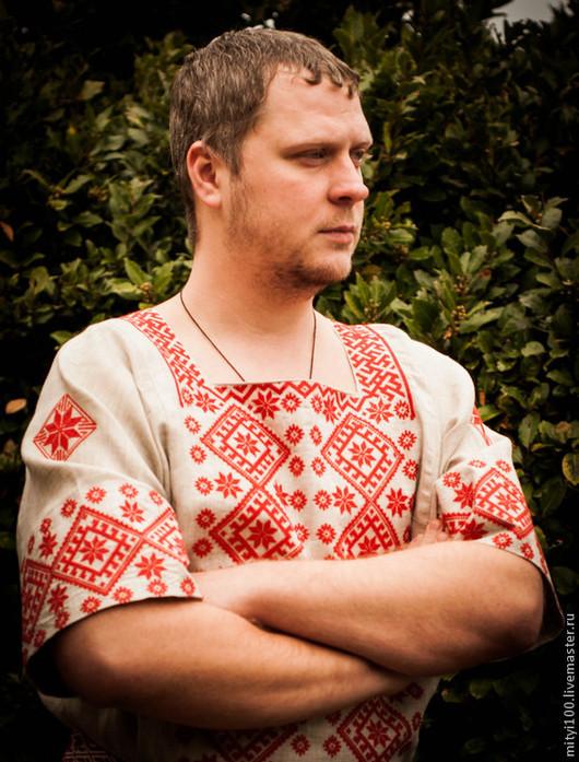 Рубаха АЛАТЫРЬ (с коротким рукавом)