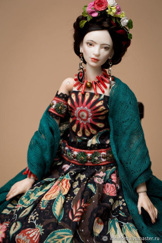 Шарнирная фарфоровая Фрида, Шарнирная кукла, Санкт-Петербург,  Фото №1