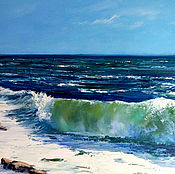Картины и панно handmade. Livemaster - original item Oil painting. The sea and the coast.. Handmade.