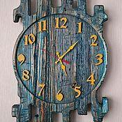Часы классические ручной работы. Ярмарка Мастеров - ручная работа Часы деревянные-Отражение,серия Старые доски.. Handmade.