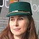 Шляпы ручной работы. Ярмарка Мастеров - ручная работа. Купить Шляпка Emeraude (Изумрудная). Handmade. Гламур, шляпа, шерсть