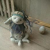 """Куклы и игрушки ручной работы. Ярмарка Мастеров - ручная работа """"Высиживать - не высиживать..."""" зайчик тедди. Handmade."""