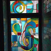 Для дома и интерьера ручной работы. Ярмарка Мастеров - ручная работа Витраж в окно детской, абстракция. Handmade.