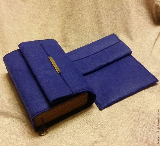 Блокноты ручной работы. Ярмарка Мастеров - ручная работа. Купить Набор фетровый. Handmade. Тёмно-синий, для рисования, фетр