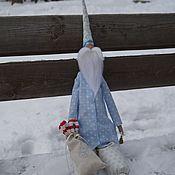 Куклы и игрушки ручной работы. Ярмарка Мастеров - ручная работа большой Санта в голубом. Handmade.