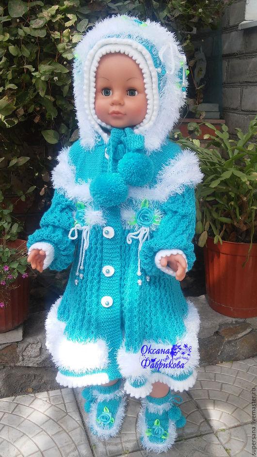 Одежда для девочек, ручной работы. Ярмарка Мастеров - ручная работа. Купить Пальто и шапочка  вязанные для девочки !. Handmade. Розовый