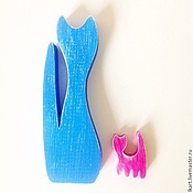 """Для дома и интерьера ручной работы. Ярмарка Мастеров - ручная работа Подарочный набор """"Кошачья семейка"""". Handmade."""