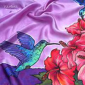 Аксессуары handmade. Livemaster - original item Silk satin Batik scarf