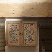 Для дома и интерьера handmade. Livemaster - original item Hanging cabinet with painting. Handmade.