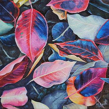 Картины и панно ручной работы. Ярмарка Мастеров - ручная работа Картина маслом Осенние листья. Handmade.