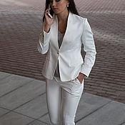 Одежда handmade. Livemaster - original item Suit WHITE CLASSIC. Handmade.