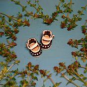 Материалы для творчества ручной работы. Ярмарка Мастеров - ручная работа Туфли для Тедди. 3,5см. Натуральная лаковая  кожа.. Handmade.