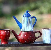 """Посуда ручной работы. Ярмарка Мастеров - ручная работа Набор для людей с разными вкусами """"Чайник-необычайник"""". Handmade."""