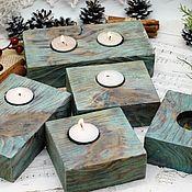 Для дома и интерьера handmade. Livemaster - original item Candlesticks with twigs Forest thicket. Handmade.