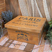"""Для дома и интерьера ручной работы. Ярмарка Мастеров - ручная работа Короб для хранения """"PARIS"""". Handmade."""