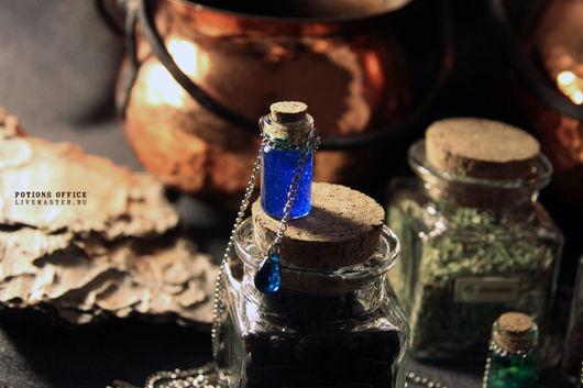 """Кулоны, подвески ручной работы. Ярмарка Мастеров - ручная работа. Купить Подвеска """"Blueberry jam"""". Handmade. Баночка, алхимия, синий"""