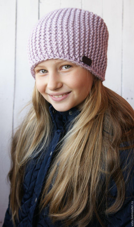 Вязаная шапка Lilac – купить в интернет-магазине на Ярмарке Мастеров ... 7e6d094ab8c73