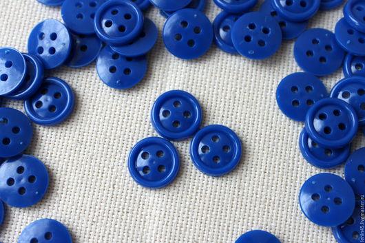 Шитье ручной работы. Ярмарка Мастеров - ручная работа. Купить Пуговицы 14 мм синие. Handmade. Пуговицы, пуговицы для кукол