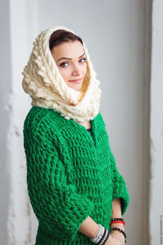 Шарф снуд – круговой шарф-хомут картинки