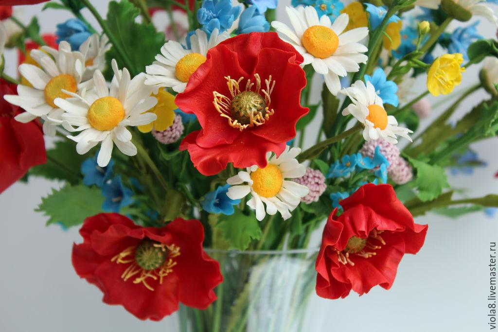 Фото букеты полевых цветов ромашки