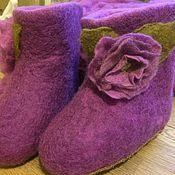Обувь ручной работы. Ярмарка Мастеров - ручная работа Детские валенки с цветами. Handmade.