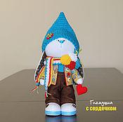 Куклы и игрушки ручной работы. Ярмарка Мастеров - ручная работа Гномушка с сердечком. Handmade.