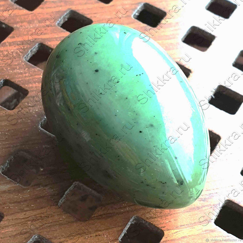 Нефритовое яйцо без отверстия - 5 см. Россия. Саяны - Сибирь, Яйца, Москва,  Фото №1