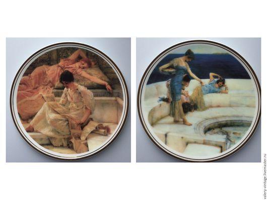 Винтажная посуда. Ярмарка Мастеров - ручная работа. Купить Декоративные тарелки Royal Vale, Англия.. Handmade. Комбинированный, кабинетная тарелка