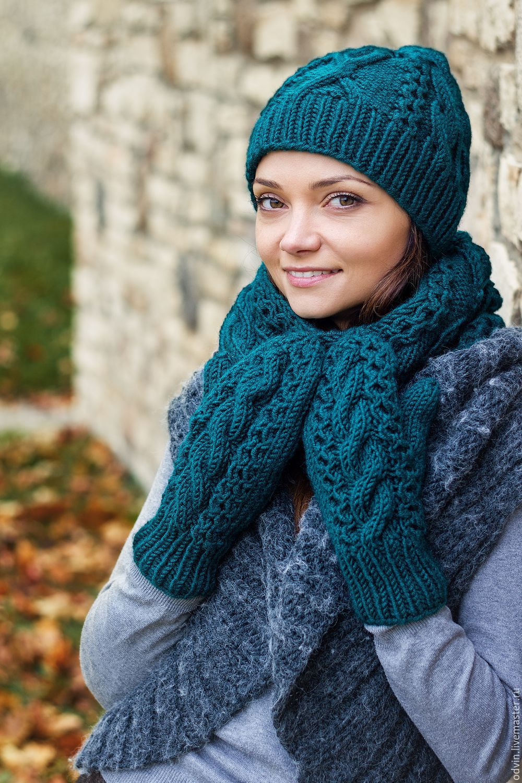 Вязание шарфиков и шапочек 912