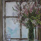 Картины и панно ручной работы. Ярмарка Мастеров - ручная работа Травы на окне. Handmade.