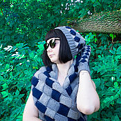 Комплекты аксессуаров ручной работы. Ярмарка Мастеров - ручная работа Эффектный комплект аксессуаров: шапка, снуд и варежки. Handmade.