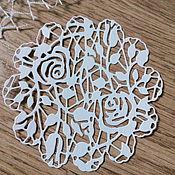 Материалы для творчества handmade. Livemaster - original item Cutting scrapbooking Napkin Rose bushes, cardboard design. Handmade.
