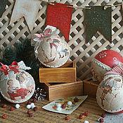 Подарки к праздникам ручной работы. Ярмарка Мастеров - ручная работа Елочные шары - Винтажные детки. Handmade.