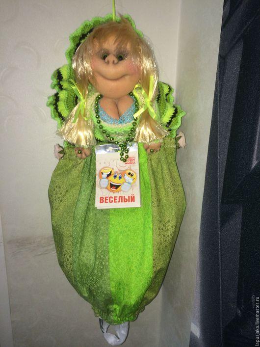 Человечки ручной работы. Ярмарка Мастеров - ручная работа. Купить Кукла ПОПИК ПАКЕТНИЦА С КАЛЕНДАРЁМ (для ВАЛЕНТИНЫ). Handmade.