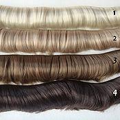Материалы для творчества ручной работы. Ярмарка Мастеров - ручная работа Волосы прямые 5см 6 цветов. Handmade.