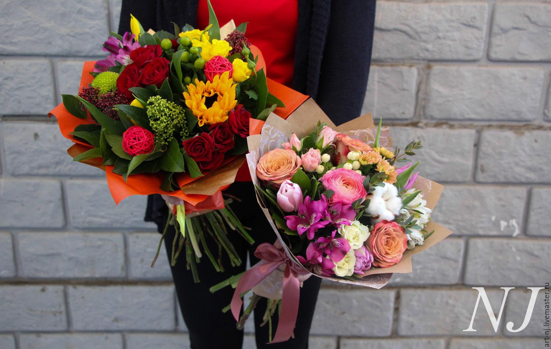 Букеты из живых цветов фото эконом класса