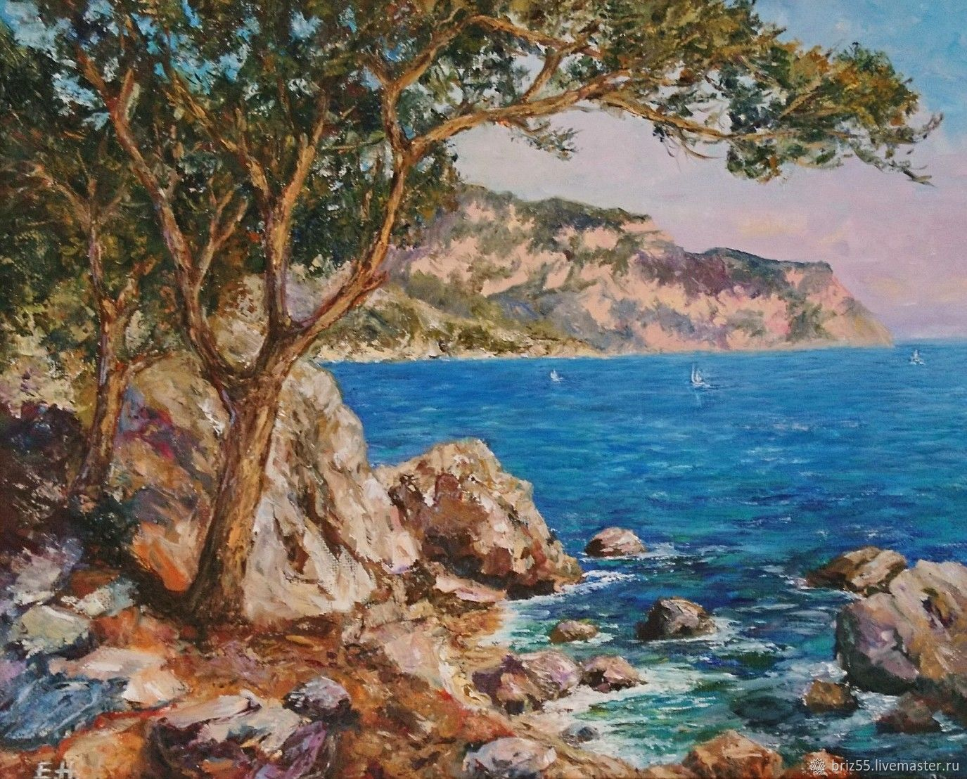 Oil painting of the black sea coast, Pictures, Zelenograd,  Фото №1