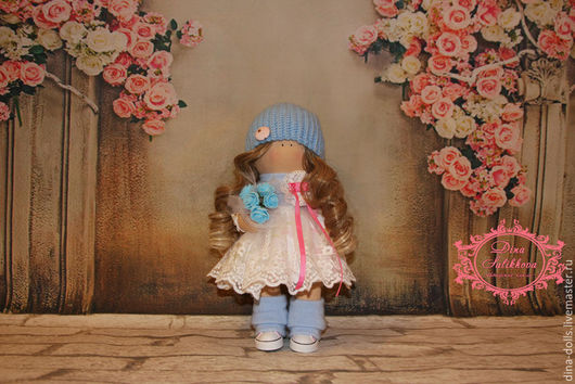 """Коллекционные куклы ручной работы. Ярмарка Мастеров - ручная работа. Купить Интерьерная кукла """"Мальвина"""". Handmade. Голубой, Снежка, подарок"""