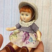 Куклы и игрушки handmade. Livemaster - original item Little doll.Mini doll.Doll on the road. Guardian. Baby.. Handmade.