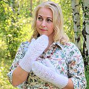 Аксессуары handmade. Livemaster - original item Mittens: Downy women`s mittens handmade. Handmade.