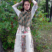 """Одежда ручной работы. Ярмарка Мастеров - ручная работа Бохо-юбка """"Чайные розы"""". Handmade."""