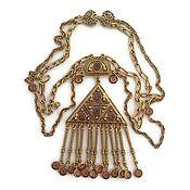 Винтаж ручной работы. Ярмарка Мастеров - ручная работа Goldette Винтажное украшение  Egyptian style. Handmade.