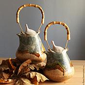 Посуда ручной работы. Ярмарка Мастеров - ручная работа чайник про осень. Handmade.