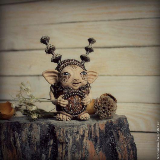 Сказочные существа ручной работы Торри Луле,поющий колыбельную сухоцветам Ярмарка мастеров - handmade,ручная работа Купить авторская игрушка (фигурка) livemaster.ru/reliquarium