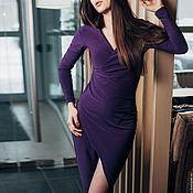 Одежда ручной работы. Ярмарка Мастеров - ручная работа Длинное платье коктейльное, вечернее платье макси, платье с запахом. Handmade.