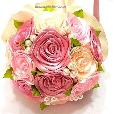 """Свадебный салон ручной работы. Ярмарка Мастеров - ручная работа Букет невесты """"Пудровые розы"""". Handmade."""