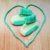 Пинетки ручной работы. Ярмарка Мастеров - ручная работа Пинетки: теплые пинетки-носочки. Handmade.
