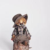 Куклы и игрушки ручной работы. Ярмарка Мастеров - ручная работа волк Перчик. Handmade.