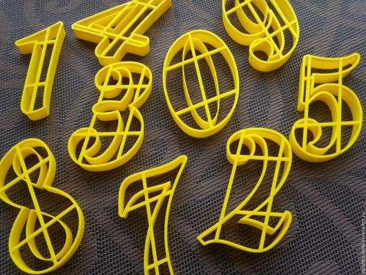 Кухня ручной работы. Ярмарка Мастеров - ручная работа. Купить Цифры Semilla 8см или 10см -  вырубка для печенья, пряников, мастики. Handmade.